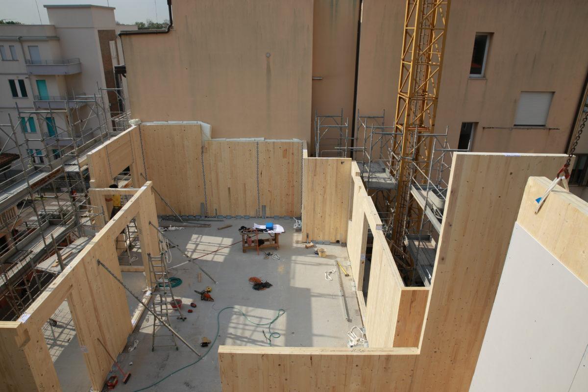 Edificio in legno multipiano